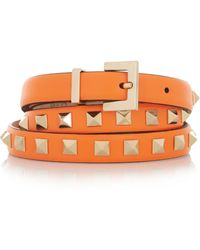 Valentino Studded Leather Belt - Lyst