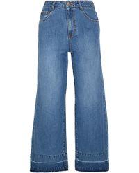 Steve J & Yoni P - High-rise Wide-leg Jeans - Lyst