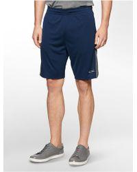 Calvin Klein White Label Performance Lightweight Gym Shorts blue - Lyst