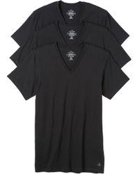 Calvin Klein 3 Pack V Neck T-Shirts - Lyst
