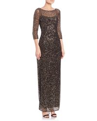 Kay Unger | Sequin-Embellished Lace Gown  | Lyst