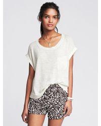 Banana Republic Heritage Mixed-Media Short-Sleeve Pullover - Lyst