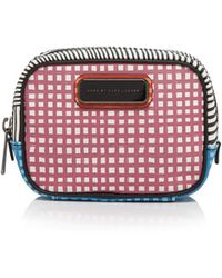 Marc By Marc Jacobs Cosmetic Case - Sophisticato Optical Stripe Small Box red - Lyst