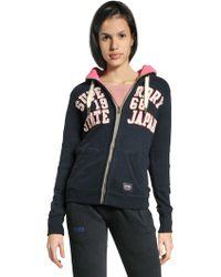 Superdry Hyper Cotton Blend Sweatshirt - Lyst