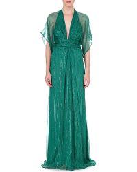 Issa Pollyanna Silkblend Gown Green - Lyst