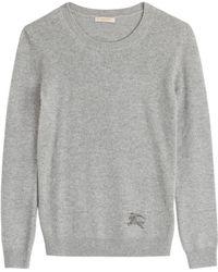 Burberry Brit Cashmere-Cotton Pullover - Lyst
