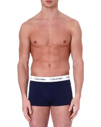 Calvin Klein Three Pack Low–Rise Trunks - For Men - Lyst