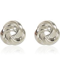 River Island Silver Tone Knot Stud Earrings - Lyst
