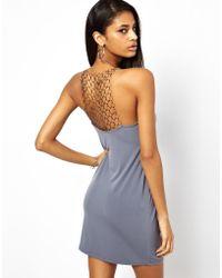 Asos Chain Back Cami Dress - Lyst