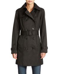 MICHAEL Michael Kors Double Breasted Belted Trench Coat - Lyst