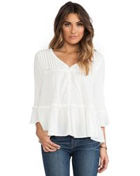 Free People Clementine Bed Top in Ivory - Lyst