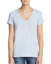 James Perse Skinny Cotton & Linen Tee - Lyst