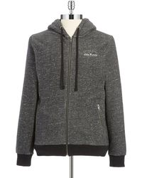 Guess Heathered Hoodie - Lyst