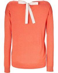 Diane Von Furstenberg Nectar Orange Silk Cashmere Darcie Pullover - Lyst
