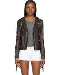 BLK DNM Black Fringed Leather Jacket - Lyst