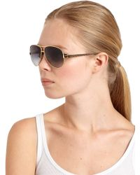 Tory Burch 60mm Aviator Sunglasses - Lyst