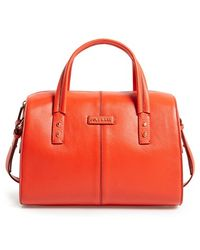 Cole Haan 'Emma' Pebbled Leather Satchel - Lyst