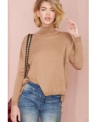 Nasty Gal Out Cold Knit Sweater - Lyst