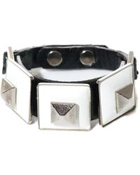 Toga - Square Pyramid Leather Bracelet - Lyst