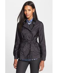 Burberry Brit - 'peasdale' Belted Short Trench Coat - Lyst