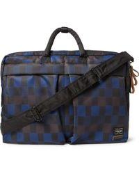Marni - + Porter Check-Print Nylon Convertible Messenger Bag - Lyst