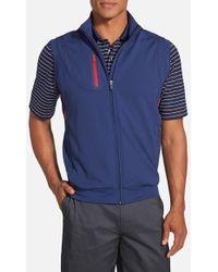 63c0f8e05 'xh20 Rtj2' Wind & Water Resistant Four-way Stretch Golf Vest - Blue