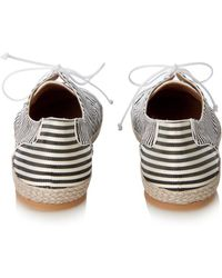 Tabitha Simmons - Dolly Striped Silk Espadrille Trainers - Lyst