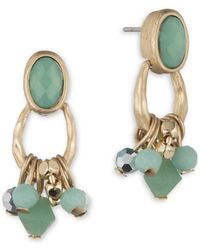 Lonna & Lilly - Beaded Drop Earrings - Lyst