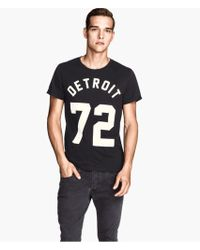 H&M Tshirt with A Print - Lyst