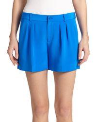 Polo Ralph Lauren Silk Shorts - Lyst