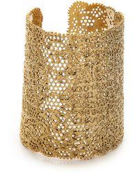 Aurelie Bidermann Vintage Lace Cuff - Gold - Lyst