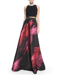 Carmen Marc Valvo - Paintbrush Stroke Ball Skirt - Lyst