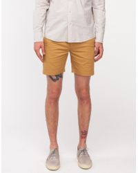 General Assembly Sun Washed Shorts In Khaki - Lyst