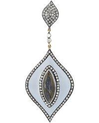 Gemco - Diamond Drop Earrings - Lyst