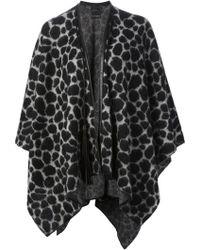 Gucci Leopard Print Cape - Lyst
