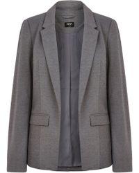 Oasis Gray Ponte Jacket - Lyst
