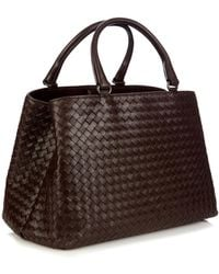 Bottega Veneta Milano Intrecciato Leather Tote - Lyst