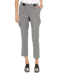 Rachel Zoe Cigarette Pants with Suspenders Blackwinter White - Lyst