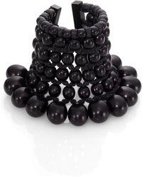 Josie Natori - Beaded Cuff Bracelet - Lyst