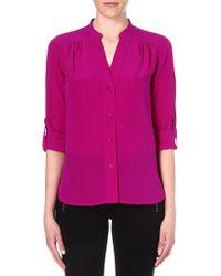 Diane Von Furstenberg Harlow Silk Shirt - Lyst