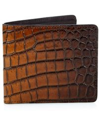 Tomas Maier - Crocodile-Effect Leather Wallet - Lyst