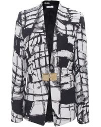 Versace White Geometric Jacket - Lyst