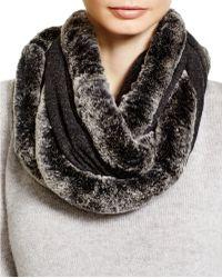 Magaschoni Fur Infinity Scarf - Grey