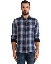 Joe's Jeans Reversible Double Plaid Button Down - Lyst