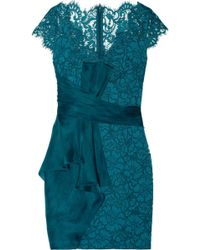 Notte By Marchesa Lace and Organza Mini Dress - Lyst