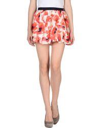 Patrizia Pepe Mini Skirt - Lyst