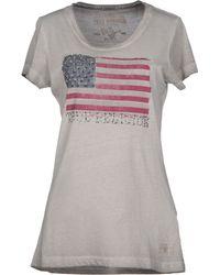 True Religion Gray Tshirt - Lyst