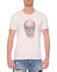 Alexander McQueen Embossed Skull Graphic T-Shirt white - Lyst