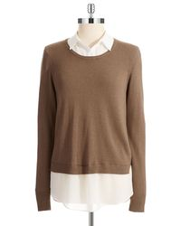 DKNY Mock Layered Sweater - Lyst