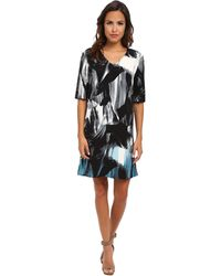 Calvin Klein Jeans Double V Dress - Lyst